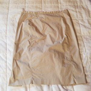 GAP Khaki pencil skirt